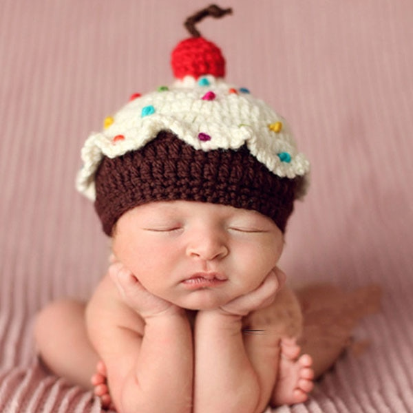 Retail samples Baby Cupcake Crochet hat Custom Made Baby Crochet