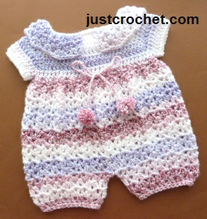 Free baby crochet pattern jumpsuit usa