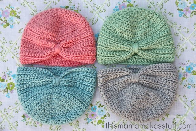 Crochet Baby Turban Pattern & Tutorial | This Mama Makes Stuff