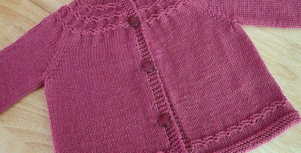 Seamless Knitted Yoked Baby Sweater [FREE Knitting Pattern]