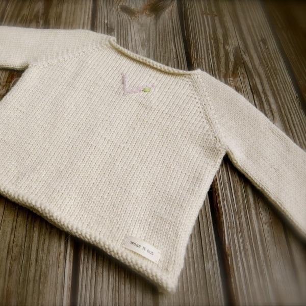 Big Bad Wool Weepaca V is for Vivi Baby Sweater Knitting Pattern