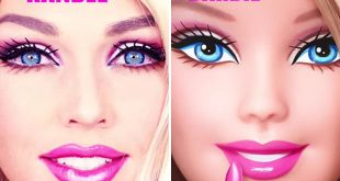 Youtube star Kandee Johnson does amazing Barbie makeup tutorial
