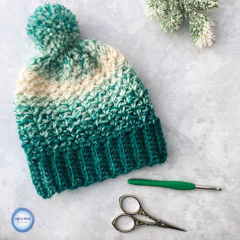 Crochet Snowball Slouch Hat - Free One Skein Pattern u2014 Left in Knots