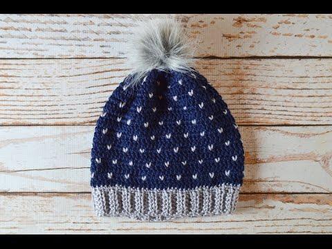 Snowfall Slouchy Hat Crochet Pattern Tutorial - YouTube