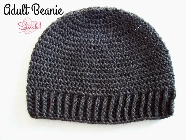 Adult Beanie for Men or Women - Free Crochet Pattern - Stitch11