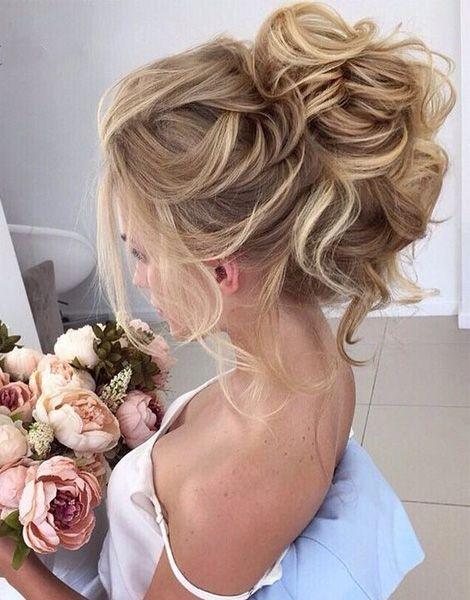 Beautiful Loose High Bun Wedding Hairstyles 2017 | Prom | Wedding