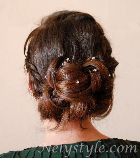 Beautiful hair bun with braid