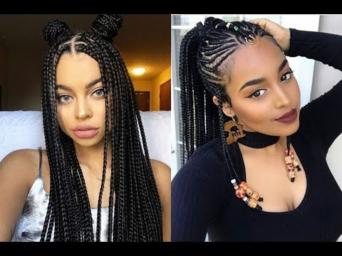 African Braids Hairstyles Ideas For Black Women 2018 - YouTube