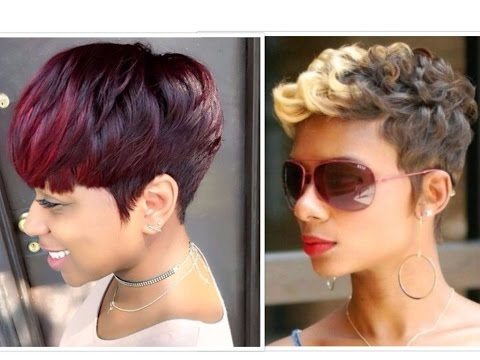 50 Trendy Short Hairstyles For Black Women - YouTube