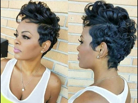 African American Women Short Hairstyles and Haircuts 2017 2018 - YouTube