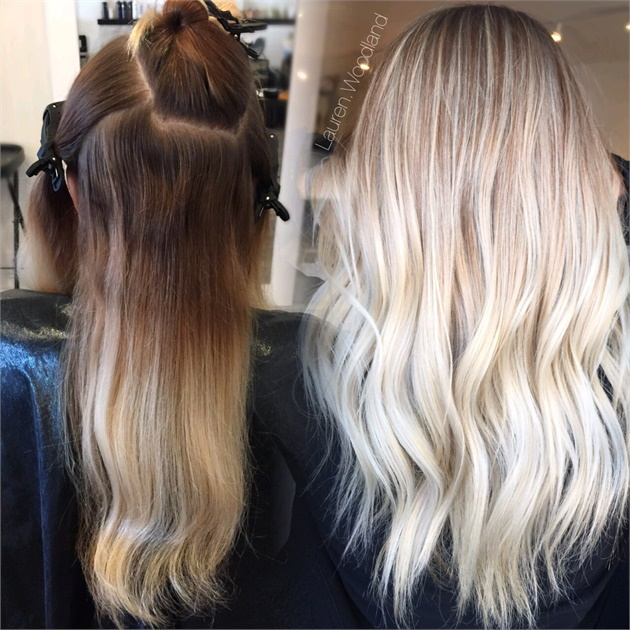 COLOR CORRECTION: Multiple Bands to Desired Blonde - Hair Color