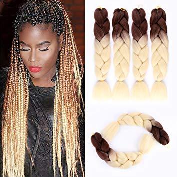 Amazon.com: Ombre Blonde Braiding Hair Kanekalon Jumbo Braiding Hair