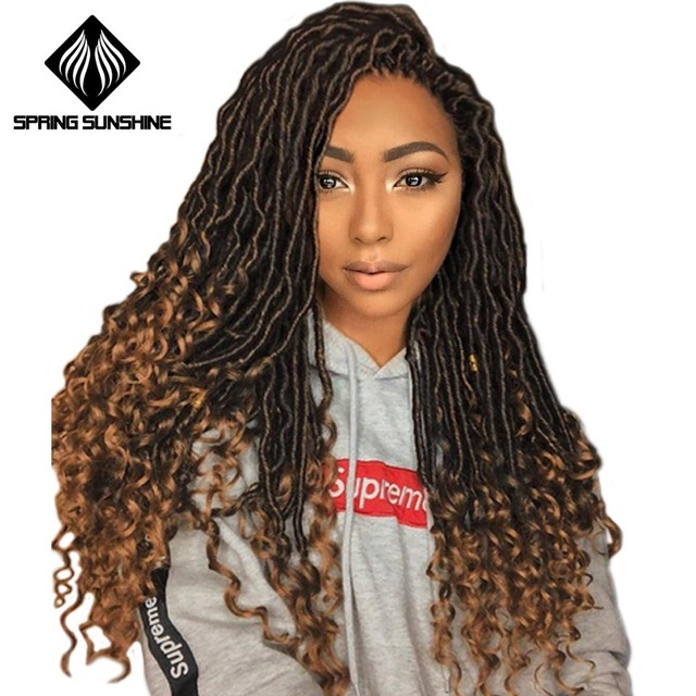 Spring sunshine Crochet Hair Extensions Bohemian Faux Locs Curly