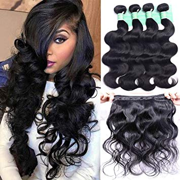 Amazon.com : ANNELBEL Brazilian Hair Body Wave 4 Bundles 8A Virgin