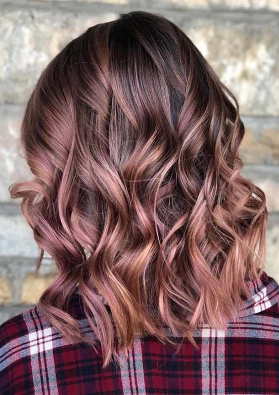 29 Trendy Rose Brown Hair Color Ideas for 2018 | //Waves for Days
