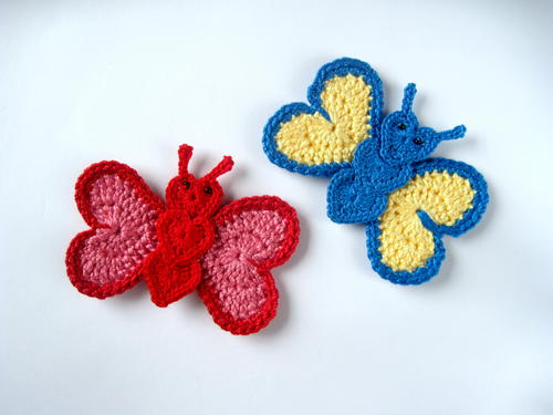 Crochet Butterfly Applique | AllFreeCrochet.com