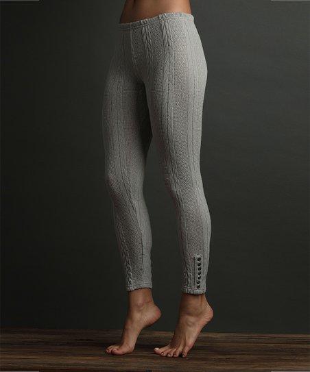 Lemon Legwear Oxford Cable-Knit Leggings - Women | Zulily