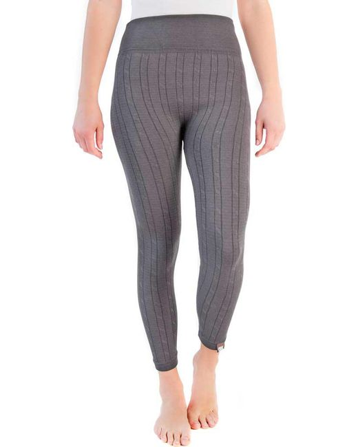 Lyst - Muk Luks Cable Knit Legging in Gray