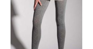 Cable Knit Cotton Sweater Leggings 2228 by Primavera