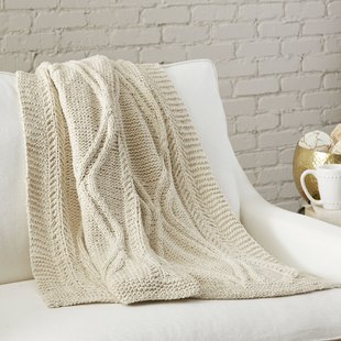Cotton Cable Knit Throw | Wayfair
