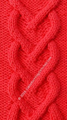 How to Knit a Cable Heart | Studio Knit | Pinterest | Knitting