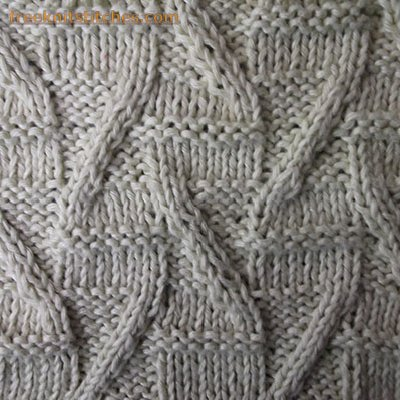 Cable knitting patterns free Letters Z