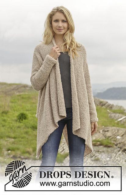 Draped Cardigan Knitting Patterns | knitting patterns | Pinterest
