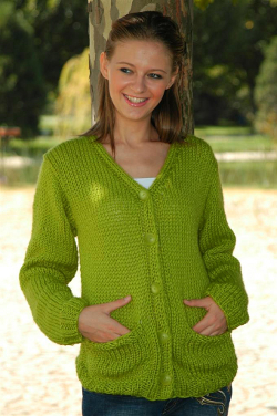 Comfortable Pocket Cardigan Knitting Pattern | FaveCrafts.com