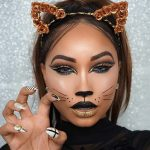 Get a completely different look by   applying a cat makeup