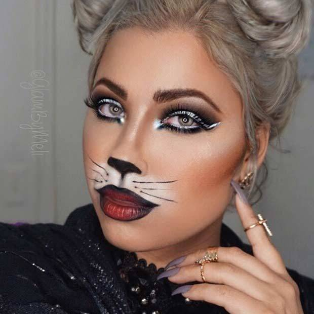 11 Black Cat Makeup Ideas for Halloween u2013 CherryCherryBeauty