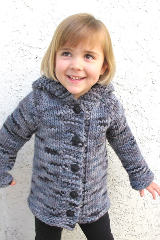 126 u2013 Children's Bulky Top Down Coat | Knitting Pure And Simple