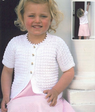 Short Sleeved Cardigans Knitting Pattern. Buy instantly online £1.95