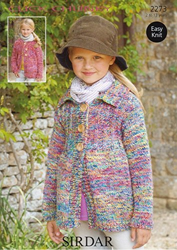 Sirdar Click Chunky Children's Knitting Pattern 2273 by Sirdar