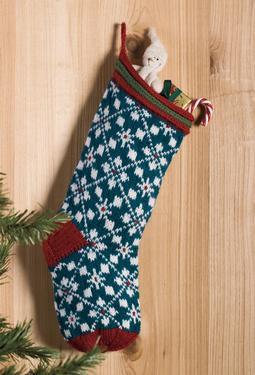 Scandanavian Christmas Stocking - Knitting Patterns and Crochet