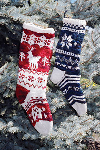 Christmas Stockings PDF at FiberWild.com - Knitting Yarns, Needles