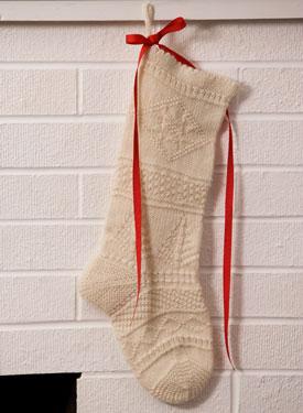 Mix-It-Up Textured Christmas Stocking Pattern - Knitting Patterns