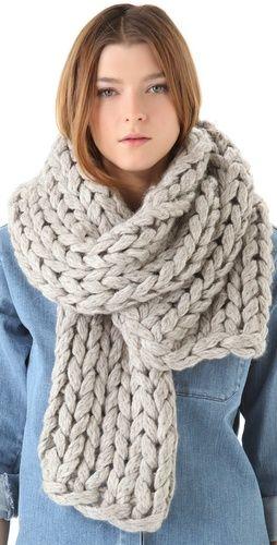 Chunky Knit Scarf | I Love Winter | Knitting, Crochet, Chunky knit