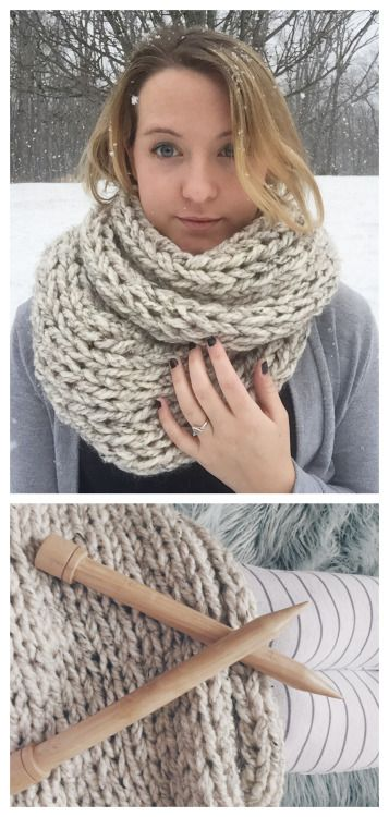 DIY Knit Cheap Super Chunky Scarf free Pattern from Margo