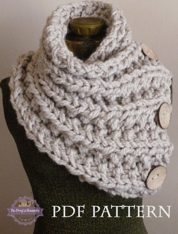 Chunky Knit Scarf Pattern -Knitting Pattern for THE LANCASTER SCARF