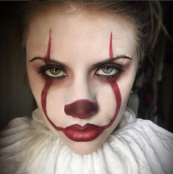 Clown Makeup Inspired By 'It' Is All Over Instagram & You'll Be