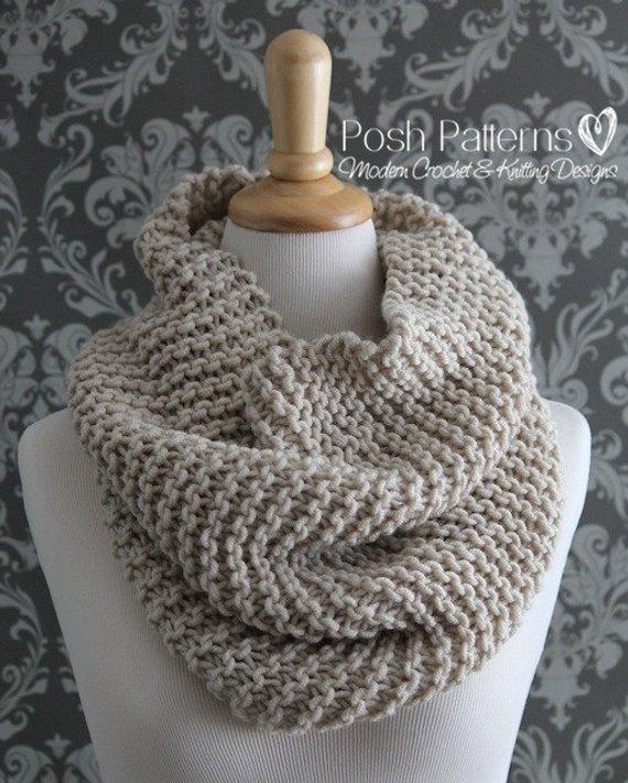 Knitting PATTERN Knit Cowl Pattern Cowl Knitting Pattern | Etsy