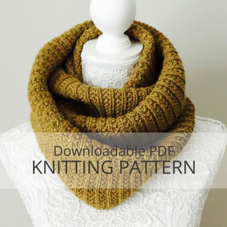 BIRCHY LAKE Infinity Cowl Knitting Pattern - Kniterations - Craftfoxes