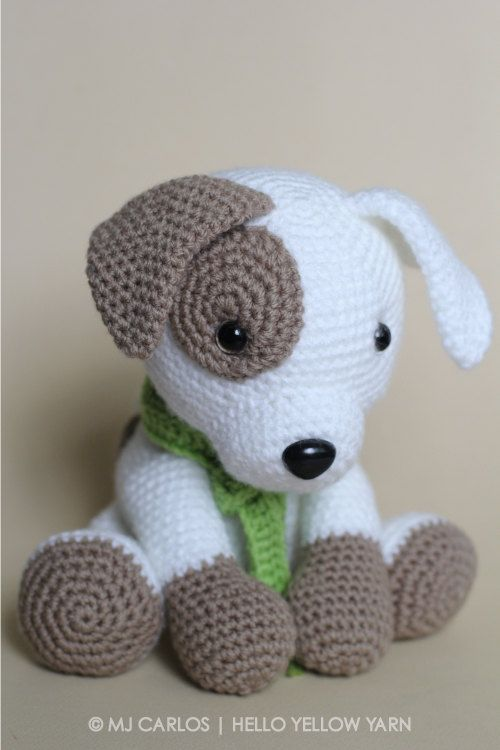Crochet Amigurumi Puppy Dog PATTERN ONLY, Jack Pup, pdf Stuffed