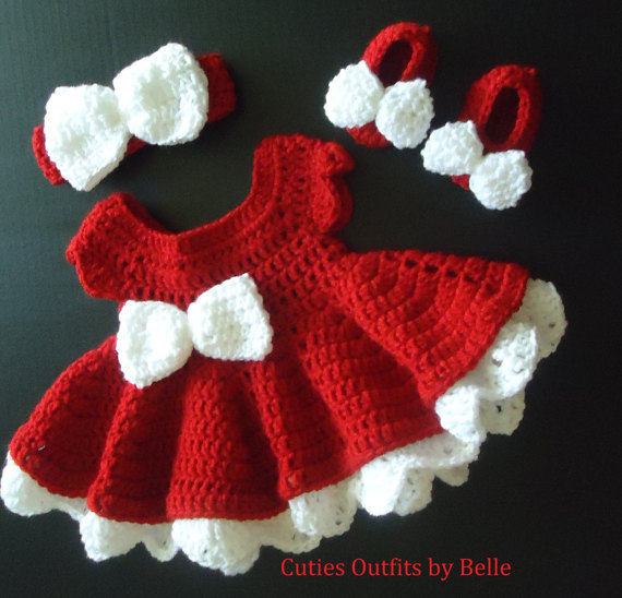 Crochet Baby Dress, Take Home Baby Outfit, Coming Home Dress, Infant