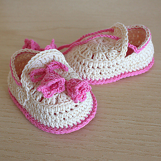 Ravelry: Crochet Baby Shoes Summer Bells pattern by Julia Noskova