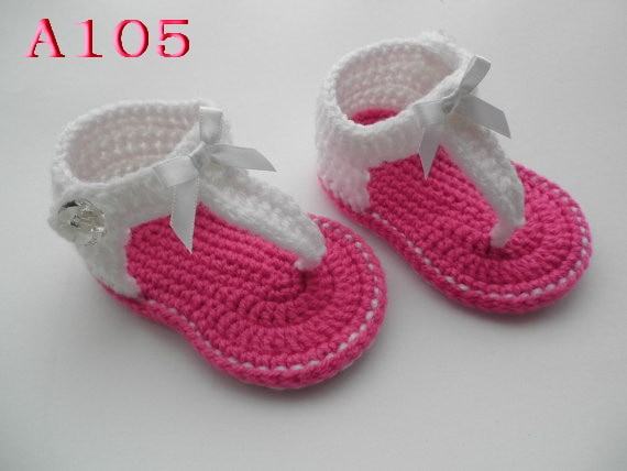 Baby Sandals Crochet Pattern Heel Strap, Crochet Baby Shoes 60pairs