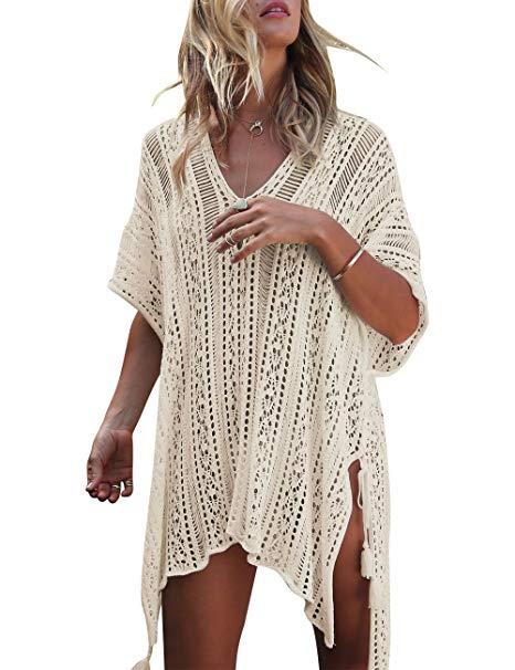Yonala Women's Bathing Suit Cover Up Beach Bikini Swimsuit Swimwear