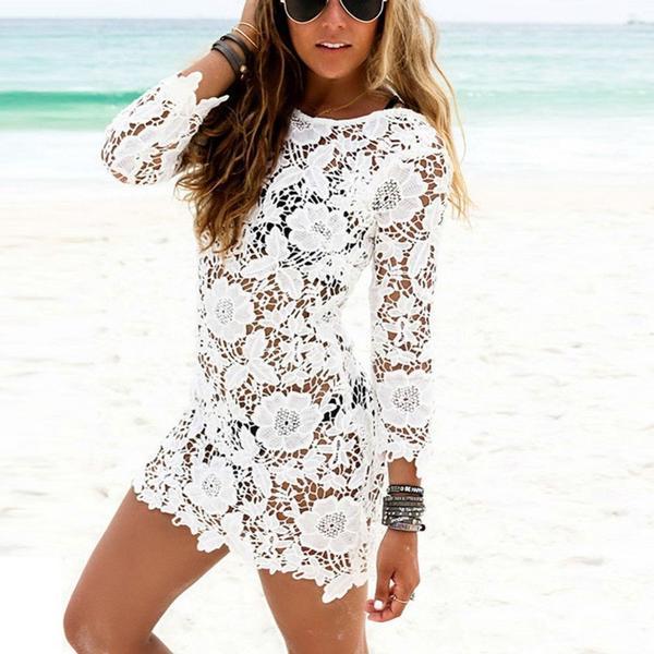 Sexy Lace Crochet Bikini Swimwear Cover Up Beach Dress u2013 Look Love Lust