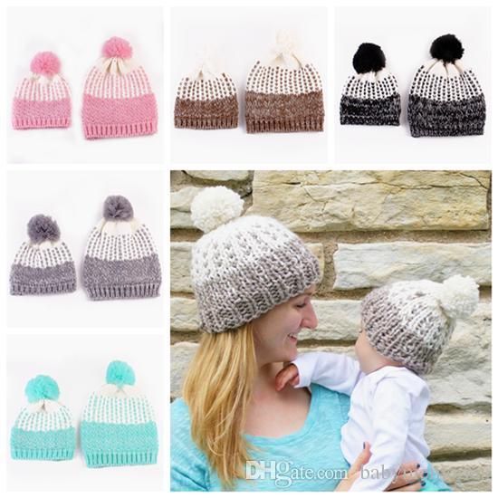 2019 2016 Baby Crochet Beanie Hats Kids Winter Hat Knitted Hat Caps
