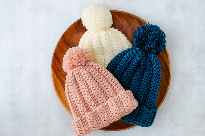 One Hour Free Crochet Hat Pattern for Beginners (+ Video Tutorial)